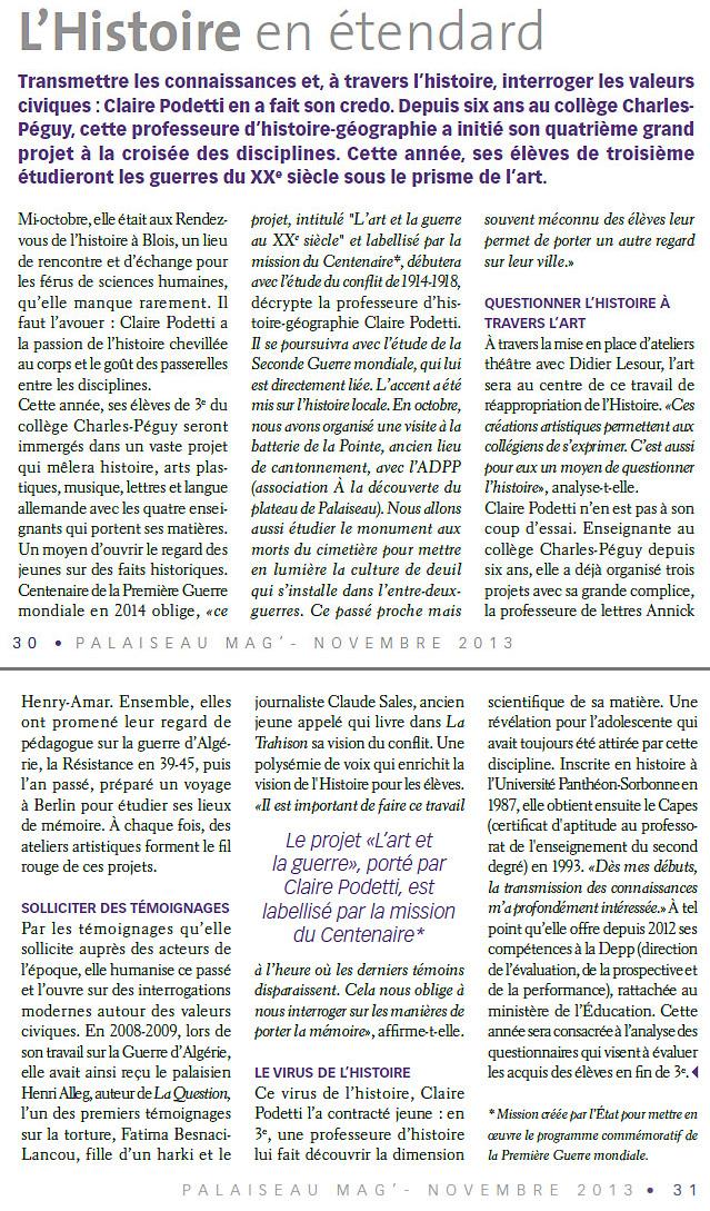 Article Palaiseau Mag' Nov 2013-1