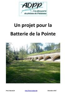 Un projet pour la Batterie de la Pointe page garde